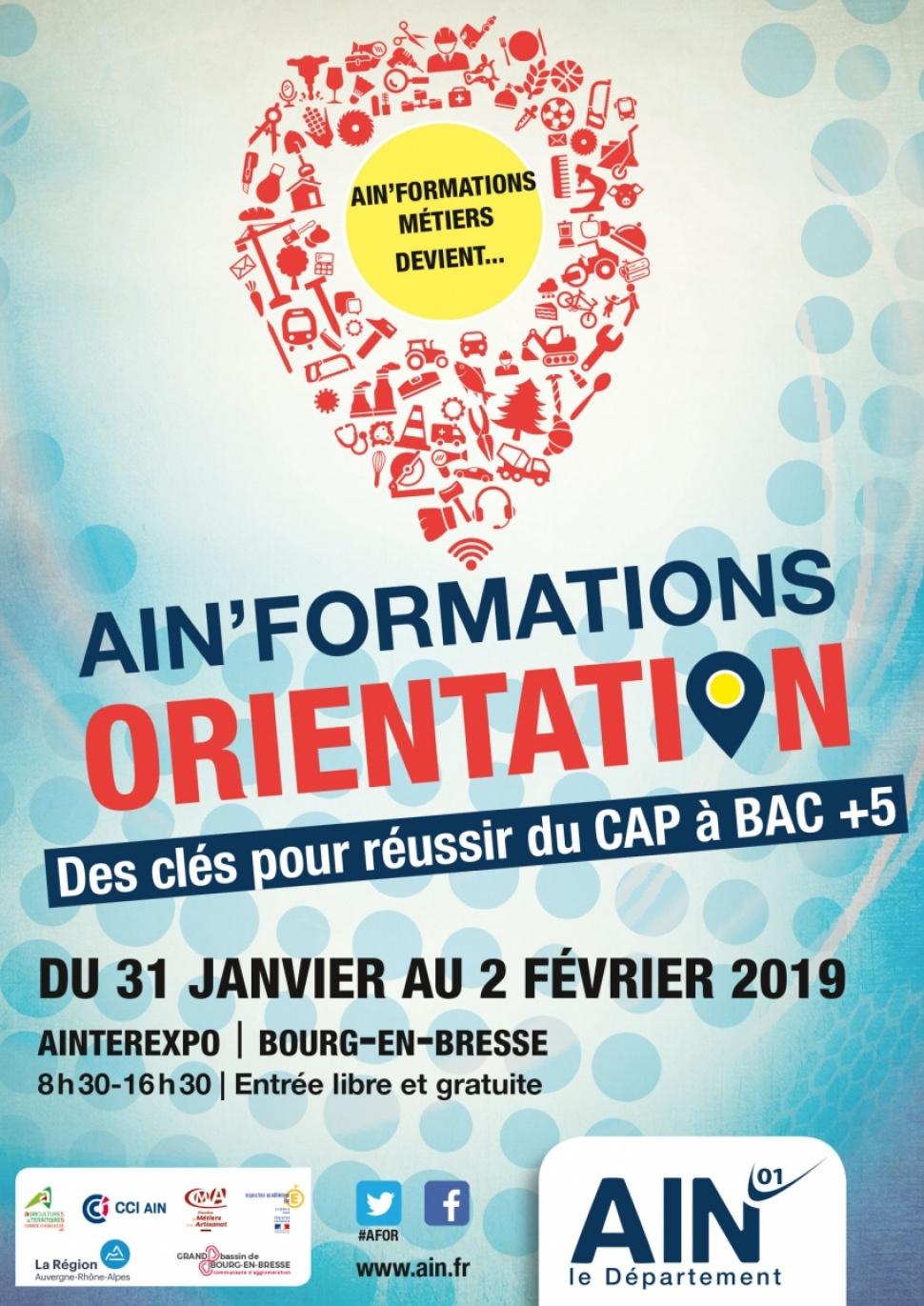 [CMA 01] - AIN'FORMATIONS ORIENTATION DU 31 JANVIER AU 02 FEVRIER