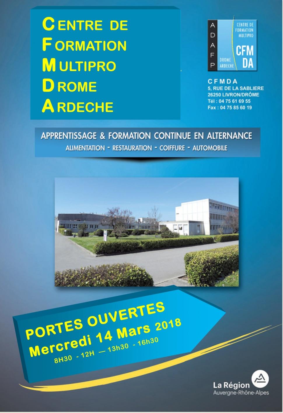 Portes Ouvertes  Centre de Formation Multipro Drôme Ardèche